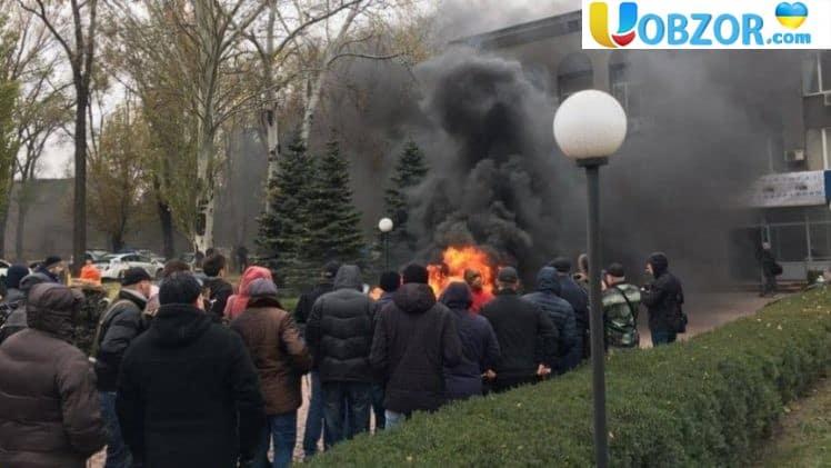 """Протестуючі захопили будівлю """"Криворіжгаз"""" і запустили котельні"""