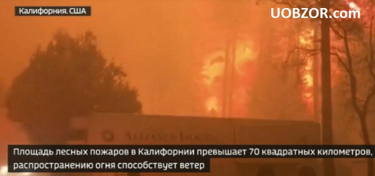Через лісові пожежі в Каліфорнії евакуйовано ціле місто