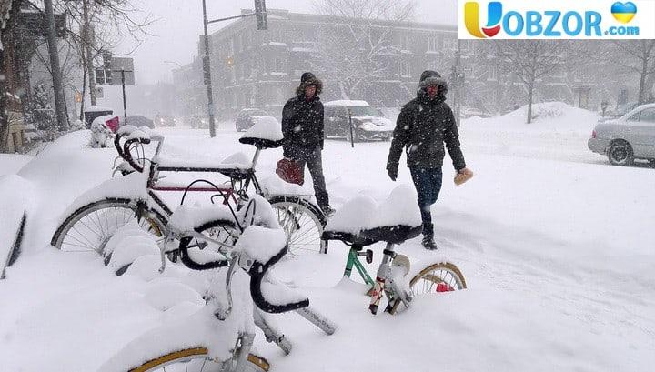 Канаду завалило снігом