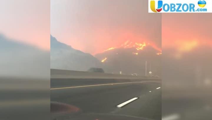 """""""Мама, вже вогонь на дорозі!"""": В Каліфорнії російськомовна дівчинка в'їхала в зону пожежі"""