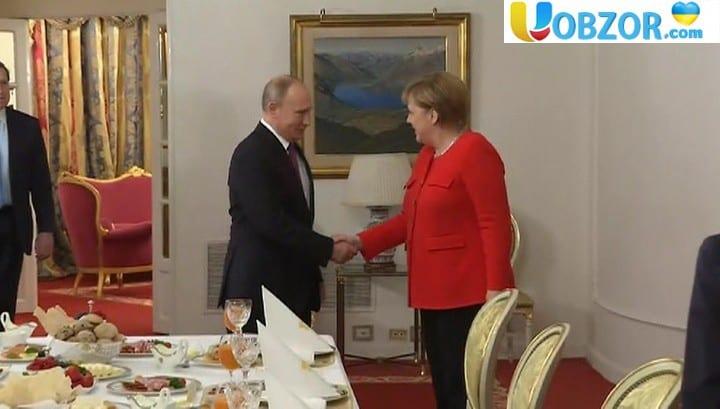 Робочий сніданок: зустріч Ангели Меркель з Путіним
