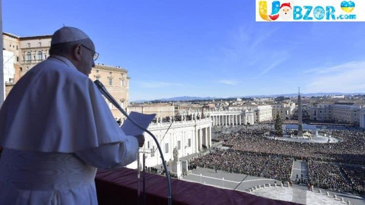 У різдвяному посланні Папа Римський згадав Україну