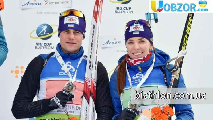 """Українські біатлоністи здобули """"бронзу"""" на змаганнях в Швейцарії"""