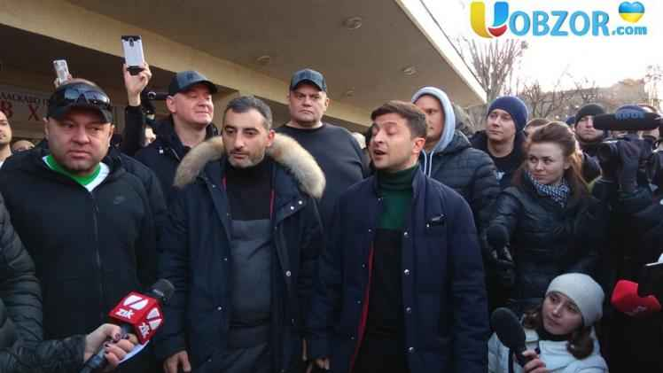 Кандидат в президенти Володимир Зеленський поспілкувався з ветеранами АТО