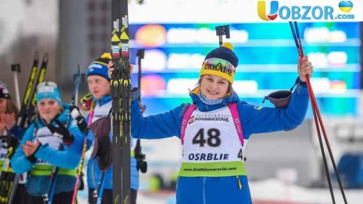"""Біатлоністка Бех завоювала для України """"золоту медаль"""" на юніорському чемпіонаті світу"""