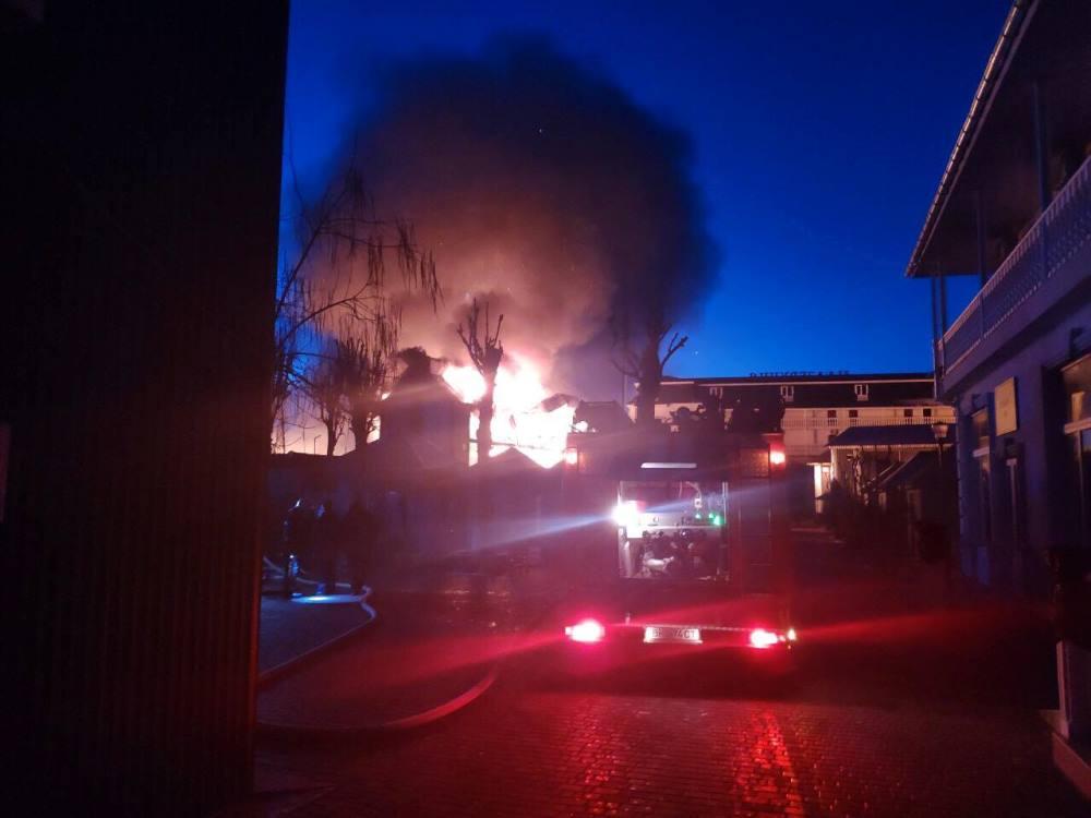 Пожежа в курортному селищі Затока Білгород-Дністровського району Одеської області
