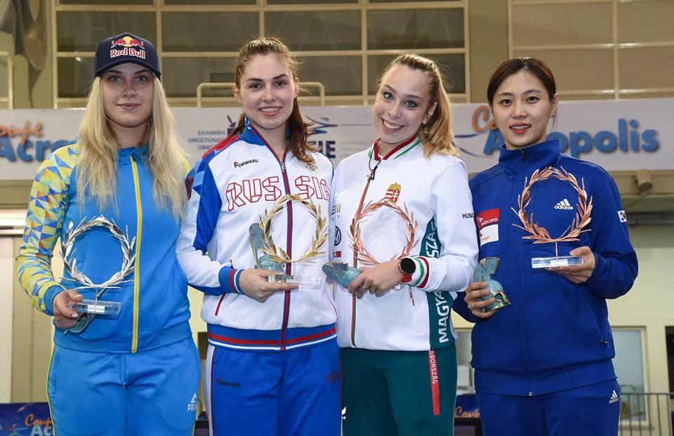 Ольга Харлан завоювала срібну медаль кубка світу з фехтування в Афінах