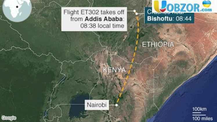 Аварія літака в Ефіопії: громадян України серед пасажирів не було