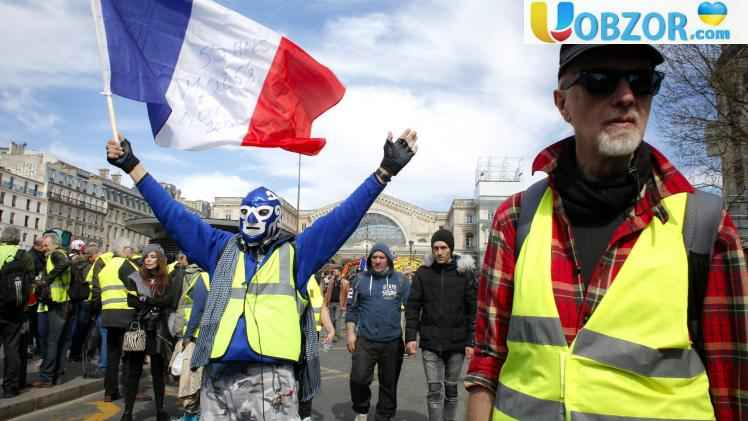 Сутичка «жовтих жилетів» з поліцією у Франції