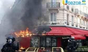 """Зіткнення """"жовтих жилетів"""" в Парижі: затримано більше 200 осіб"""