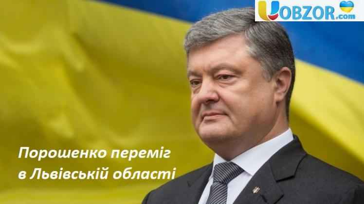Порошенко переміг в Львівській області
