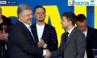 Порошенко і Зеленський потиснули руки на Олімпійському