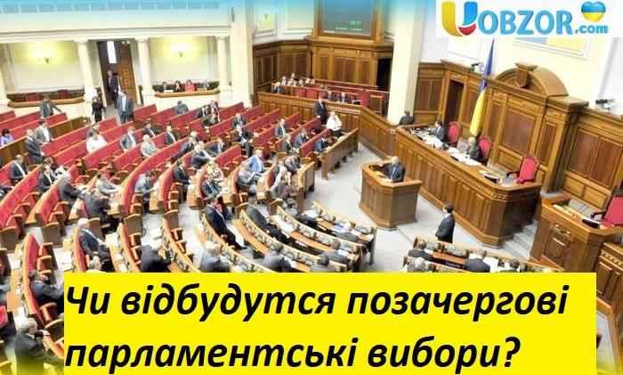 Розпуск парламенту: Чи відбудутся позачергові парламентські вибори?