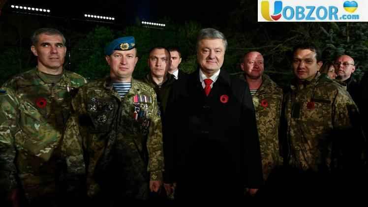 Порошенко подякував військовим за захист Ураїни від агресії РФ