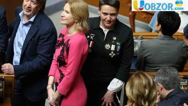 Савченко прийшла на інавгурацію Володимира Зеленського у медалях