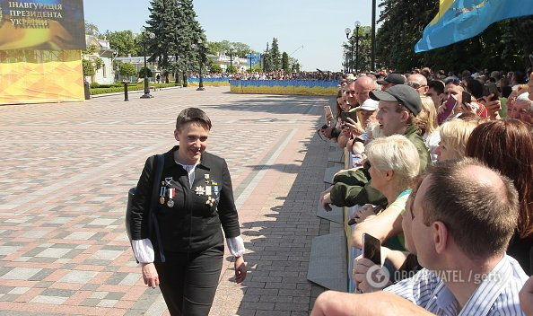 Савченко прийшла на інавгурацію Зеленського