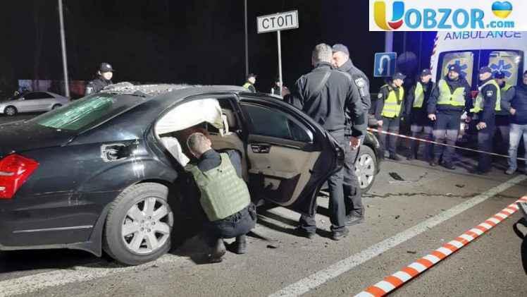Подробиці вибуху авто в Києві на Брест-Литовському шосе